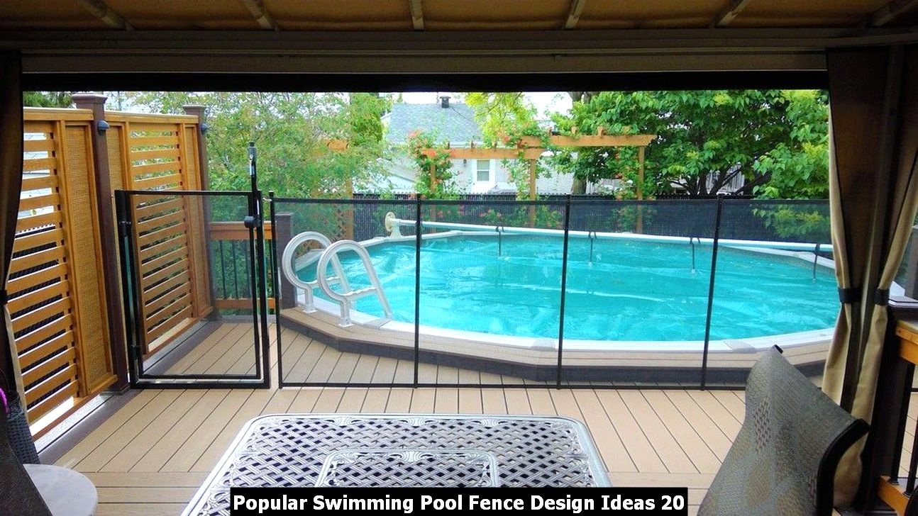 Popular Swimming Pool Fence Design Ideas 20