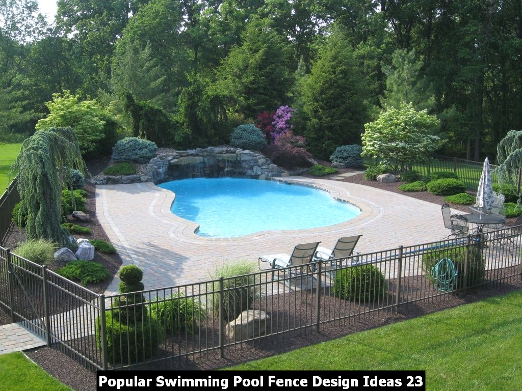 Popular Swimming Pool Fence Design Ideas 23