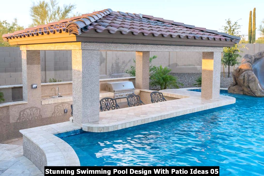Stunning Swimming Pool Design With Patio Ideas 05
