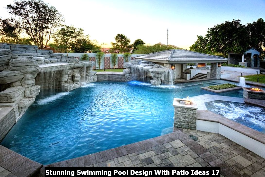 Stunning Swimming Pool Design With Patio Ideas 17