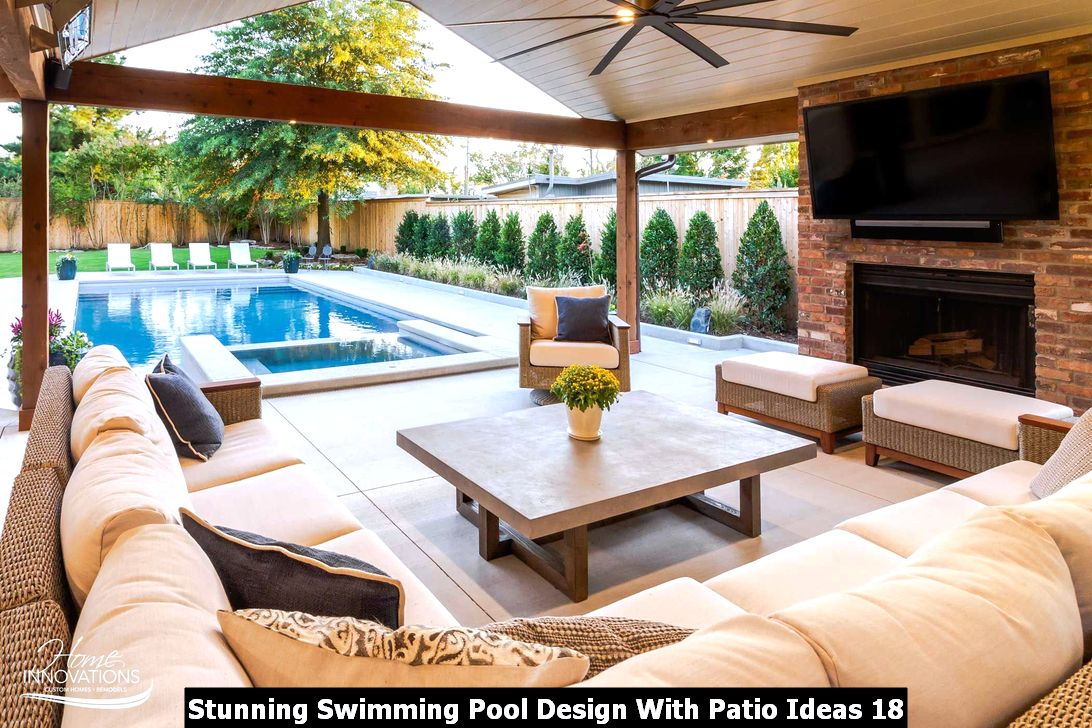 Stunning Swimming Pool Design With Patio Ideas 18