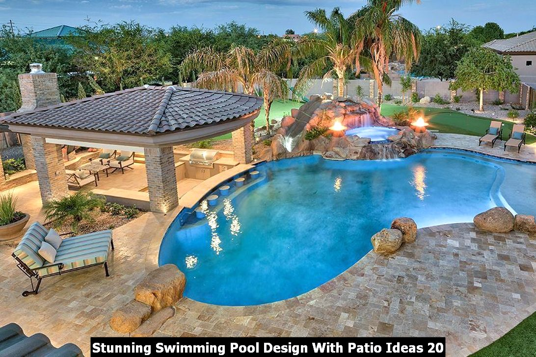 Stunning Swimming Pool Design With Patio Ideas 20