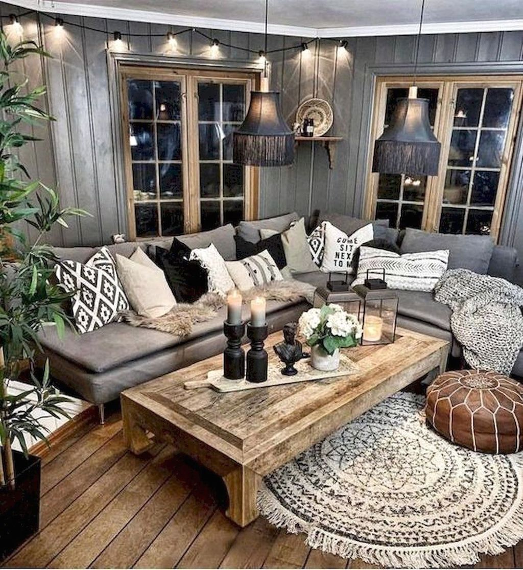 Stylish Rustic Living Room Decor Ideas 03