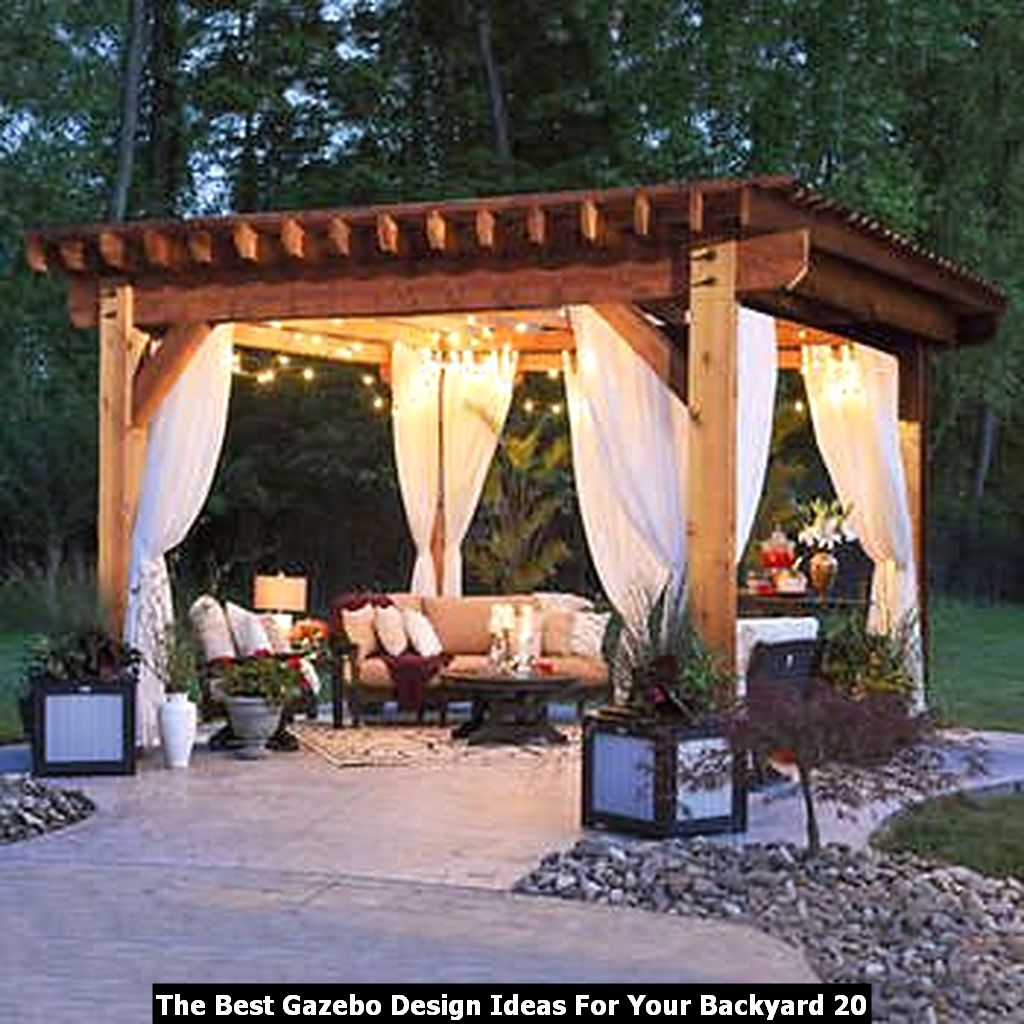 The Best Gazebo Design Ideas For Your Backyard 20