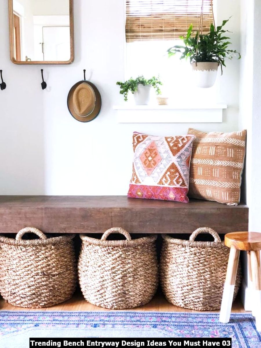 Trending Bench Entryway Design Ideas You Must Have 03