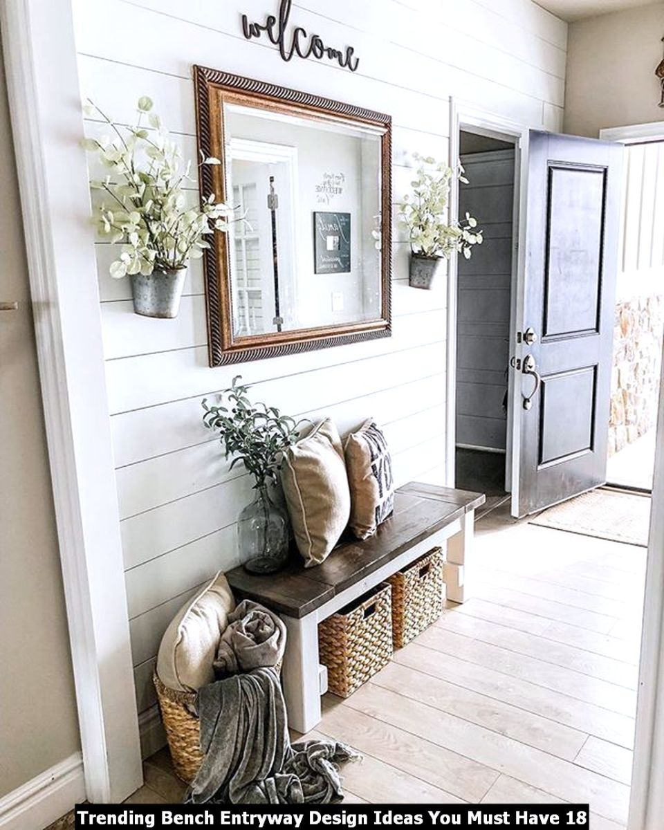 Trending Bench Entryway Design Ideas You Must Have 18