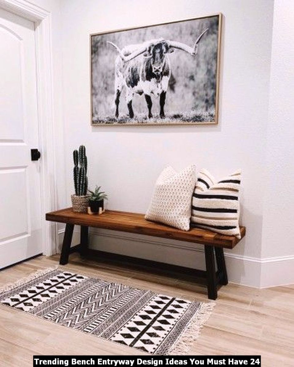 Trending Bench Entryway Design Ideas You Must Have 24