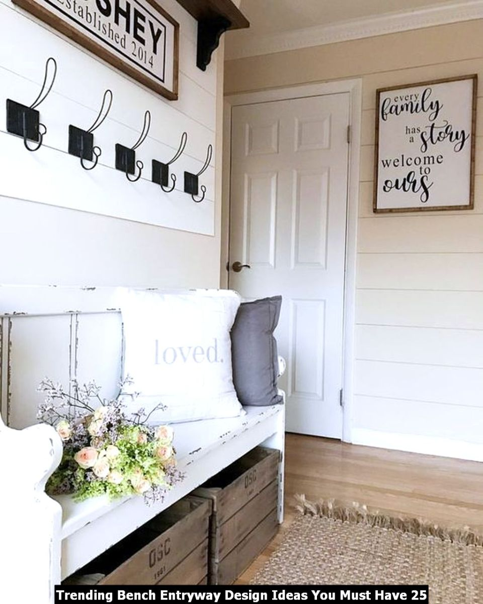 Trending Bench Entryway Design Ideas You Must Have 25
