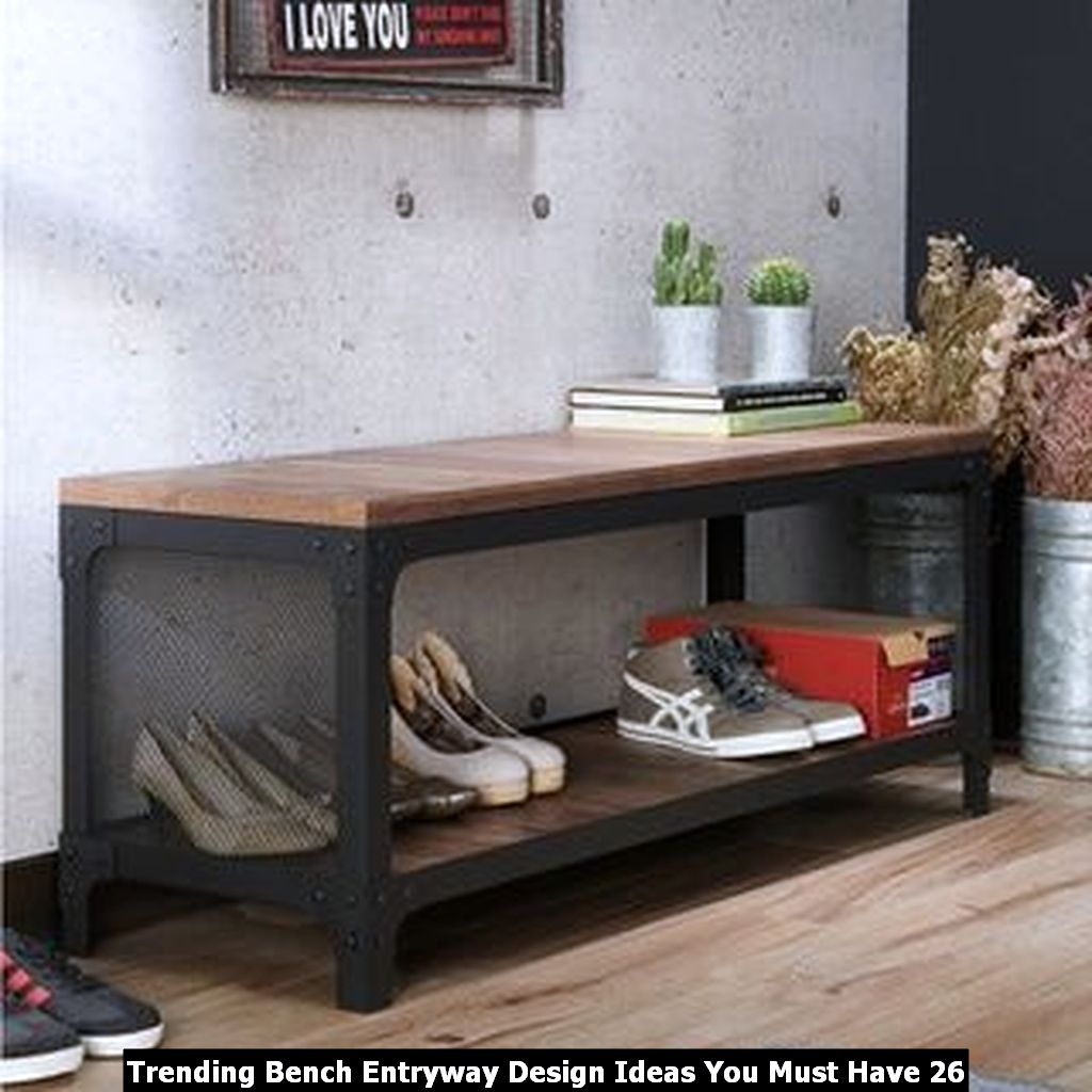 Trending Bench Entryway Design Ideas You Must Have 26