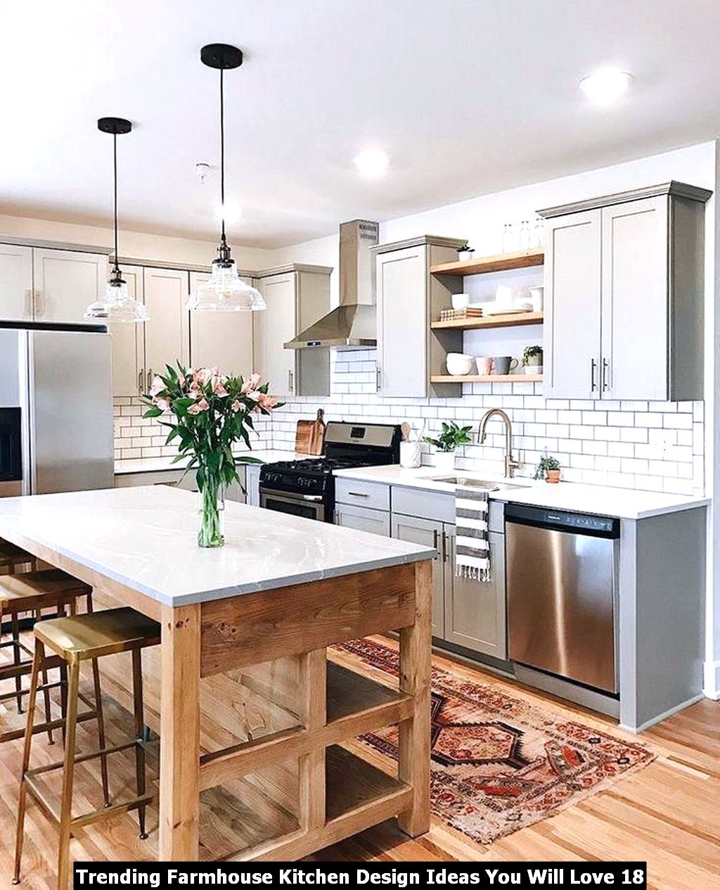 Trending Farmhouse Kitchen Design Ideas You Will Love 18