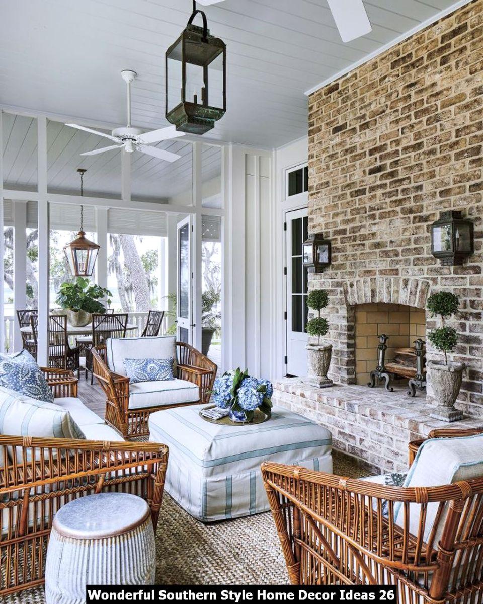 Wonderful Southern Style Home Decor Ideas 26