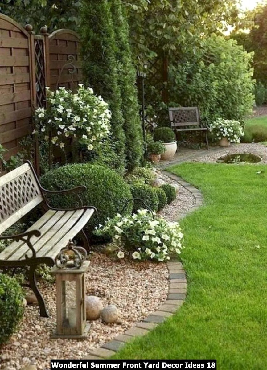 Wonderful Summer Front Yard Decor Ideas 18