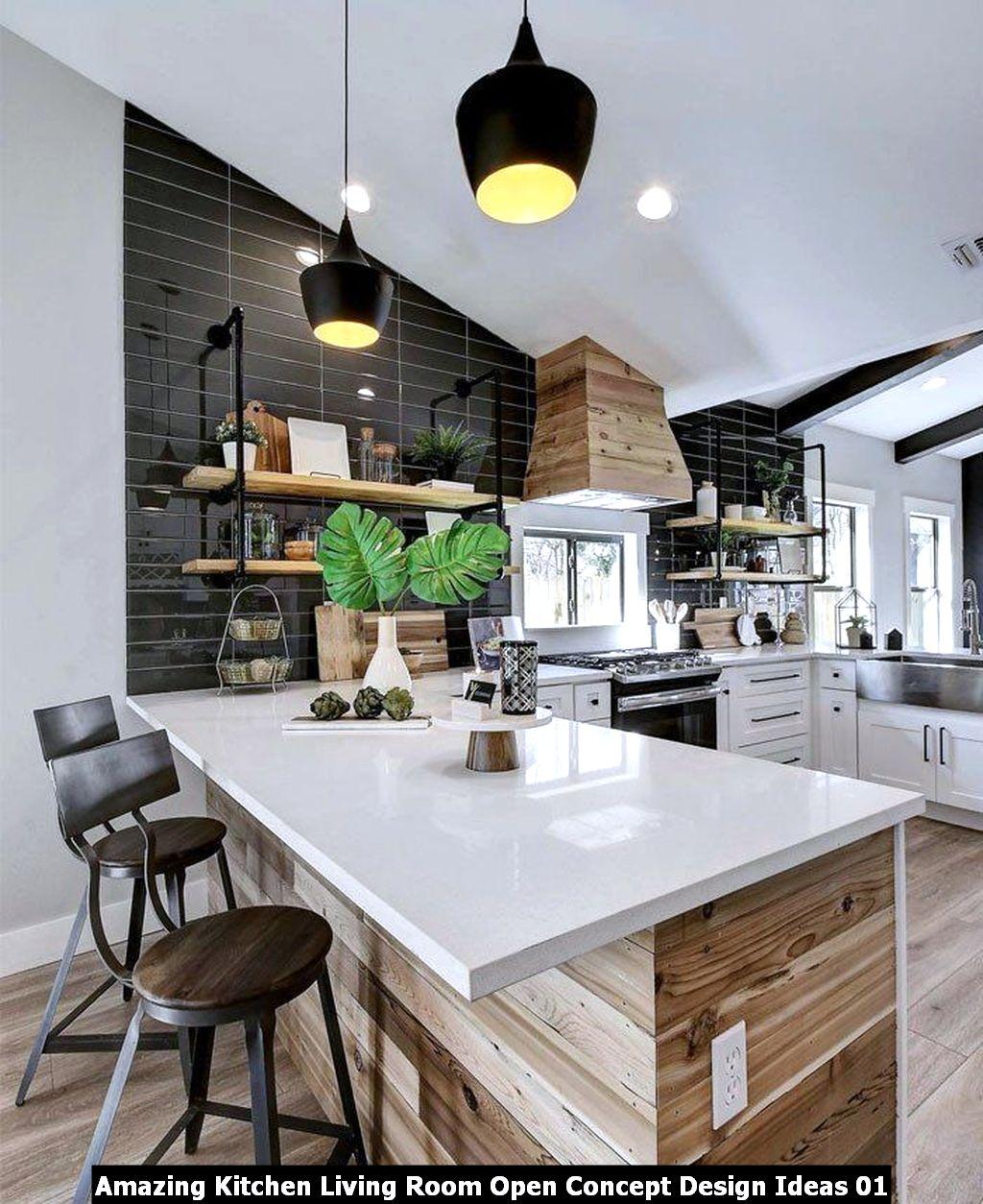 Amazing Kitchen Living Room Open Concept Design Ideas 01