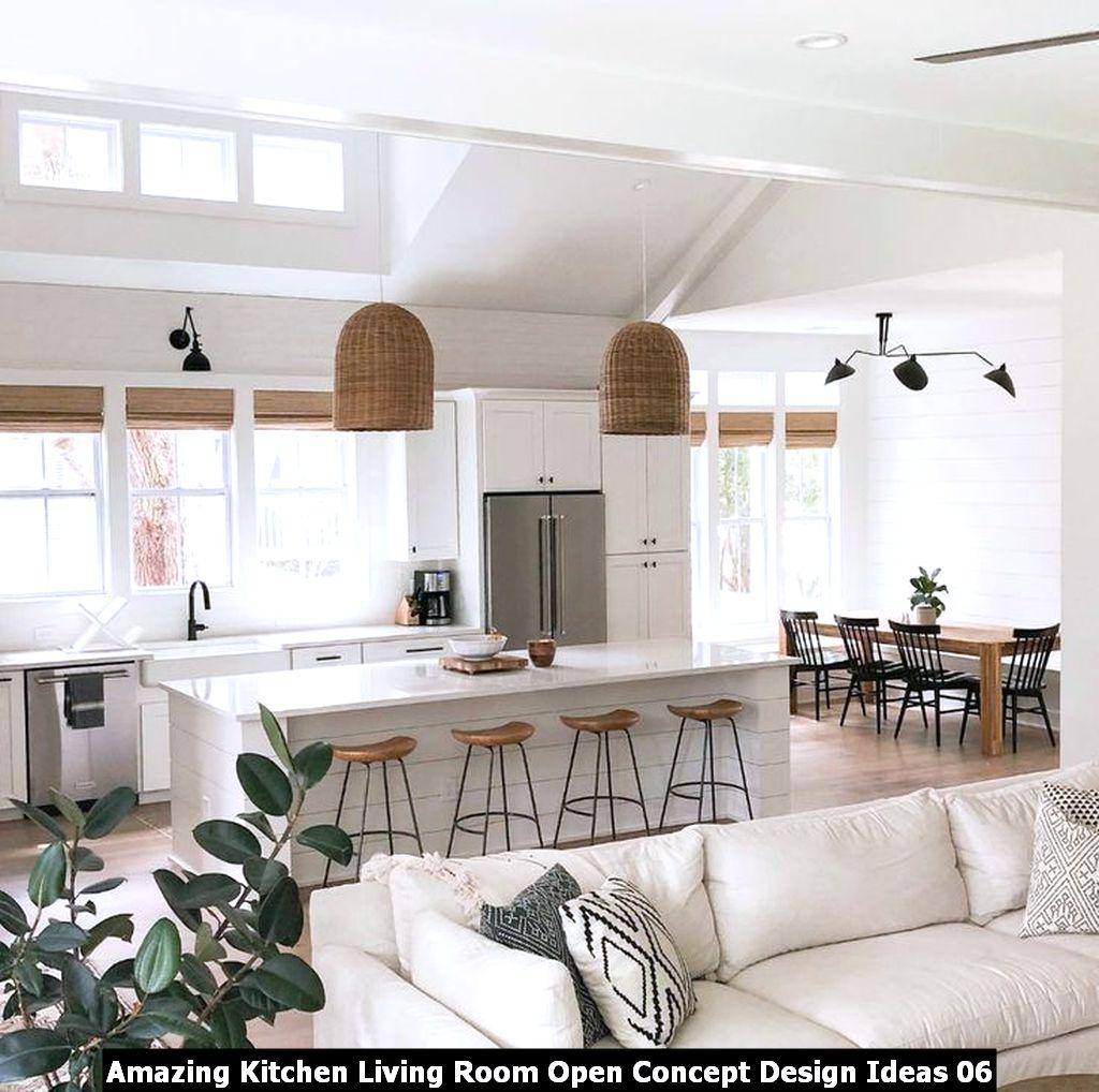 Amazing Kitchen Living Room Open Concept Design Ideas 06