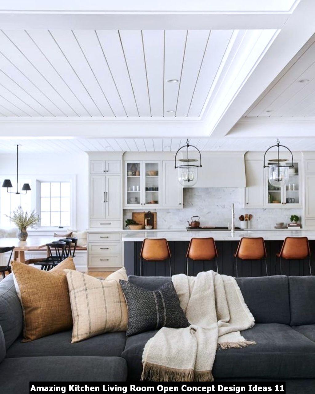 Amazing Kitchen Living Room Open Concept Design Ideas 11