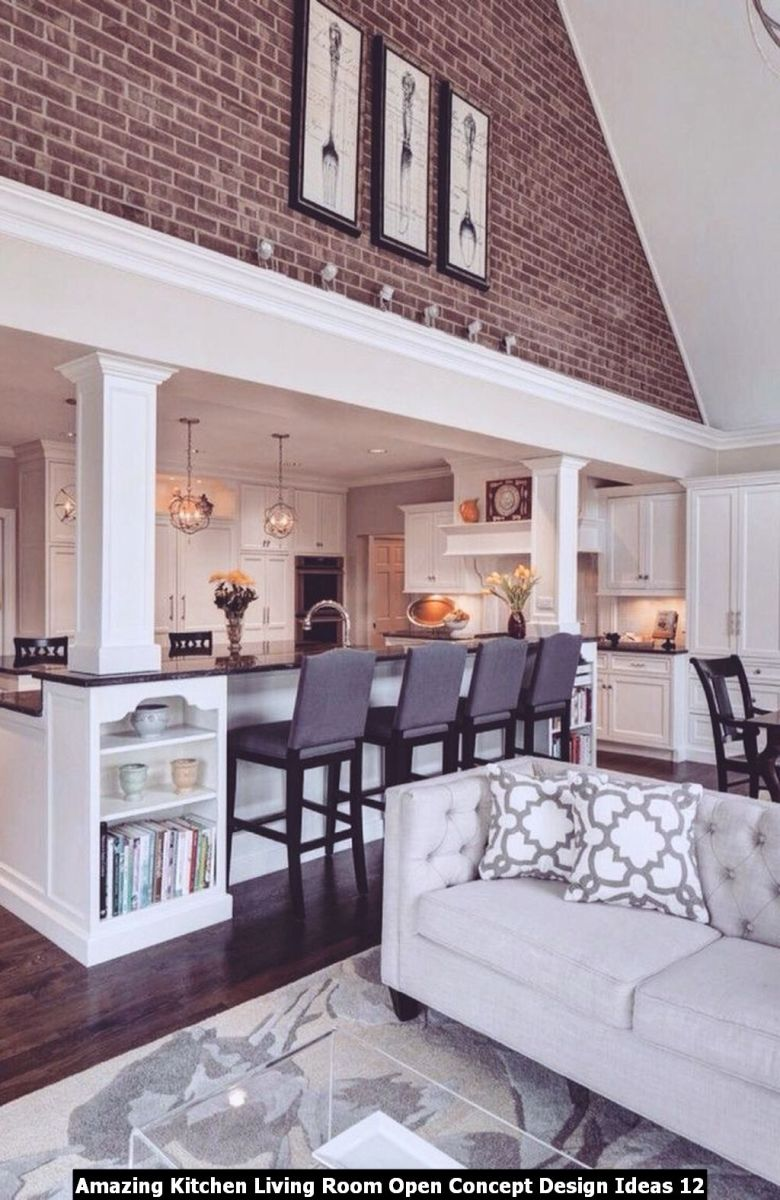Amazing Kitchen Living Room Open Concept Design Ideas 12