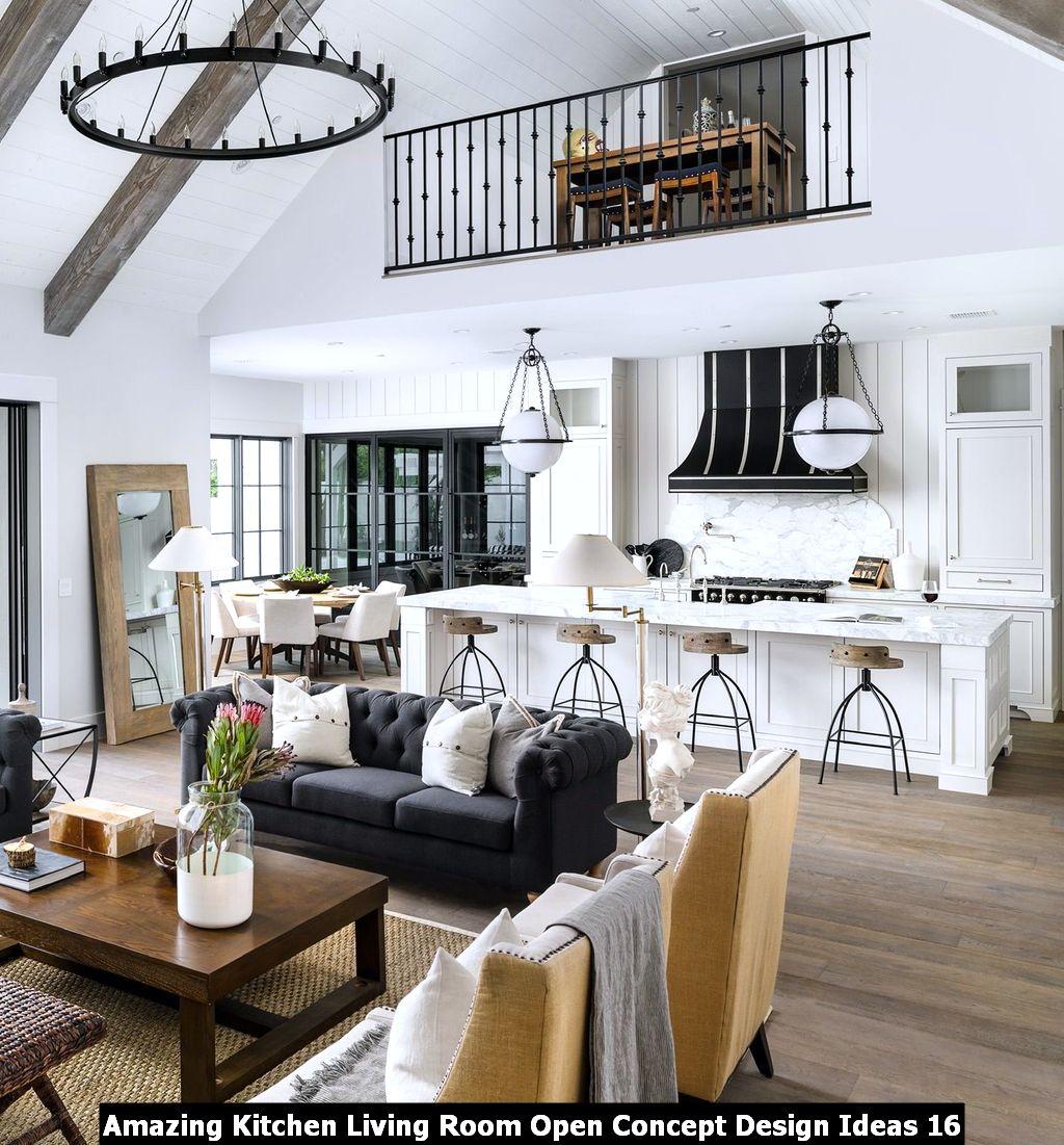 Amazing Kitchen Living Room Open Concept Design Ideas 16