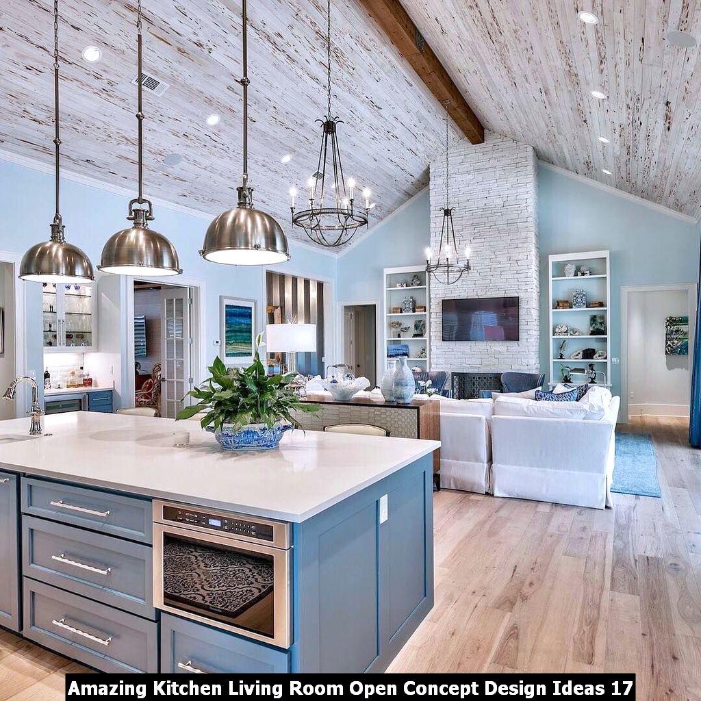 Amazing Kitchen Living Room Open Concept Design Ideas 17