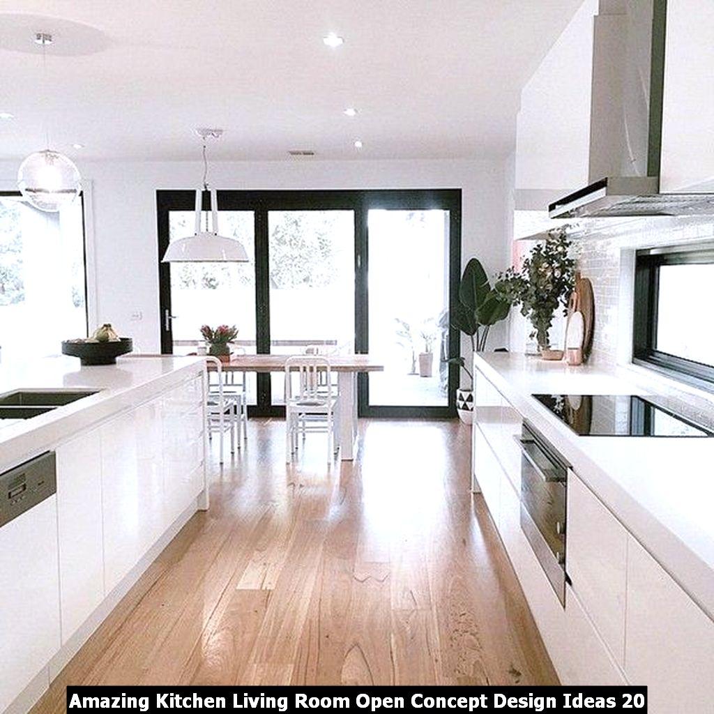 Amazing Kitchen Living Room Open Concept Design Ideas 20