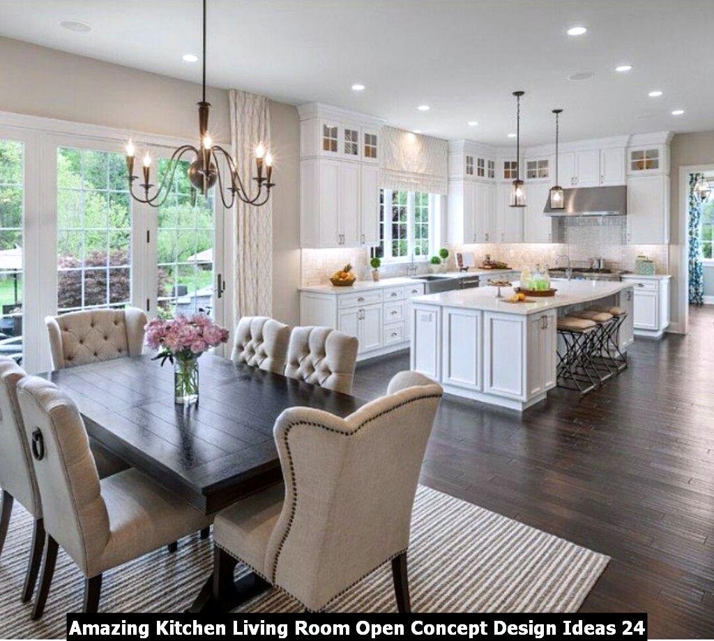 Amazing Kitchen Living Room Open Concept Design Ideas 24 Pimphomee