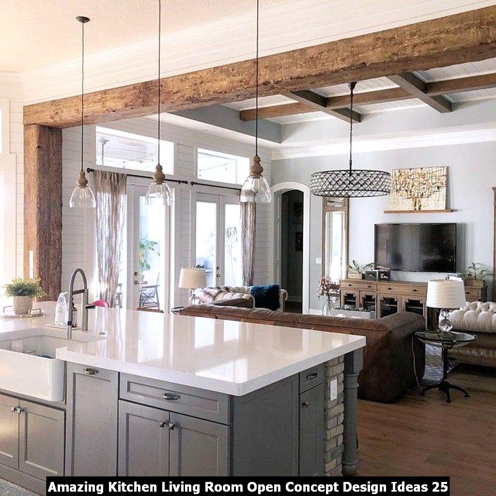 Amazing Kitchen Living Room Open Concept Design Ideas 25