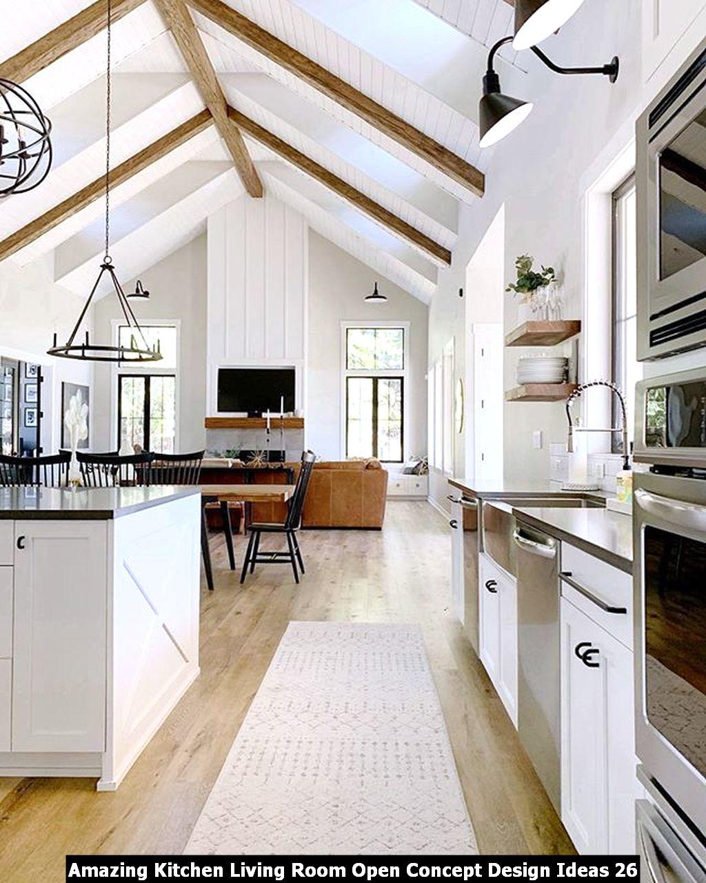 Amazing Kitchen Living Room Open Concept Design Ideas 26