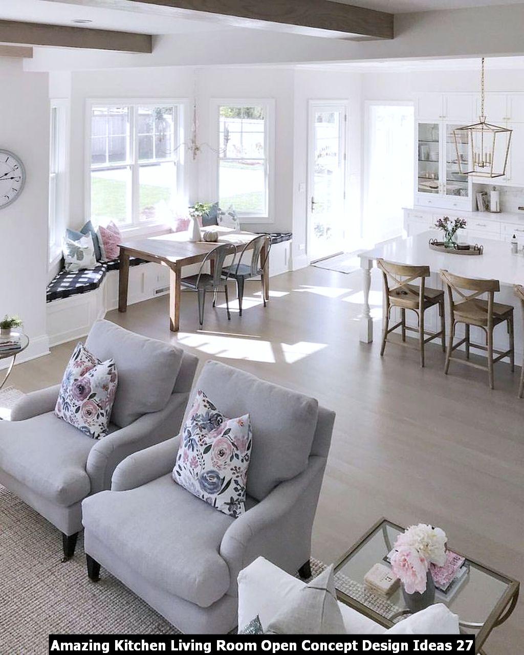 Amazing Kitchen Living Room Open Concept Design Ideas 27