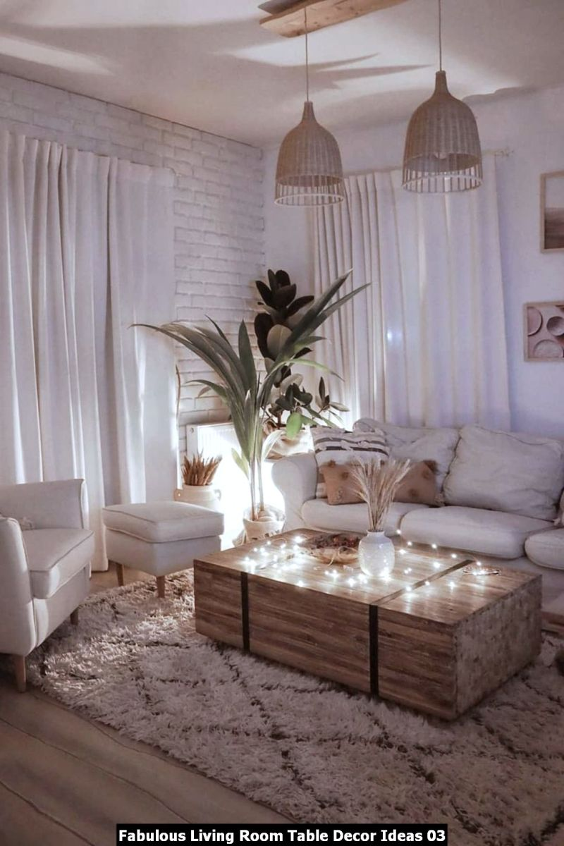 Fabulous Living Room Table Decor Ideas 03