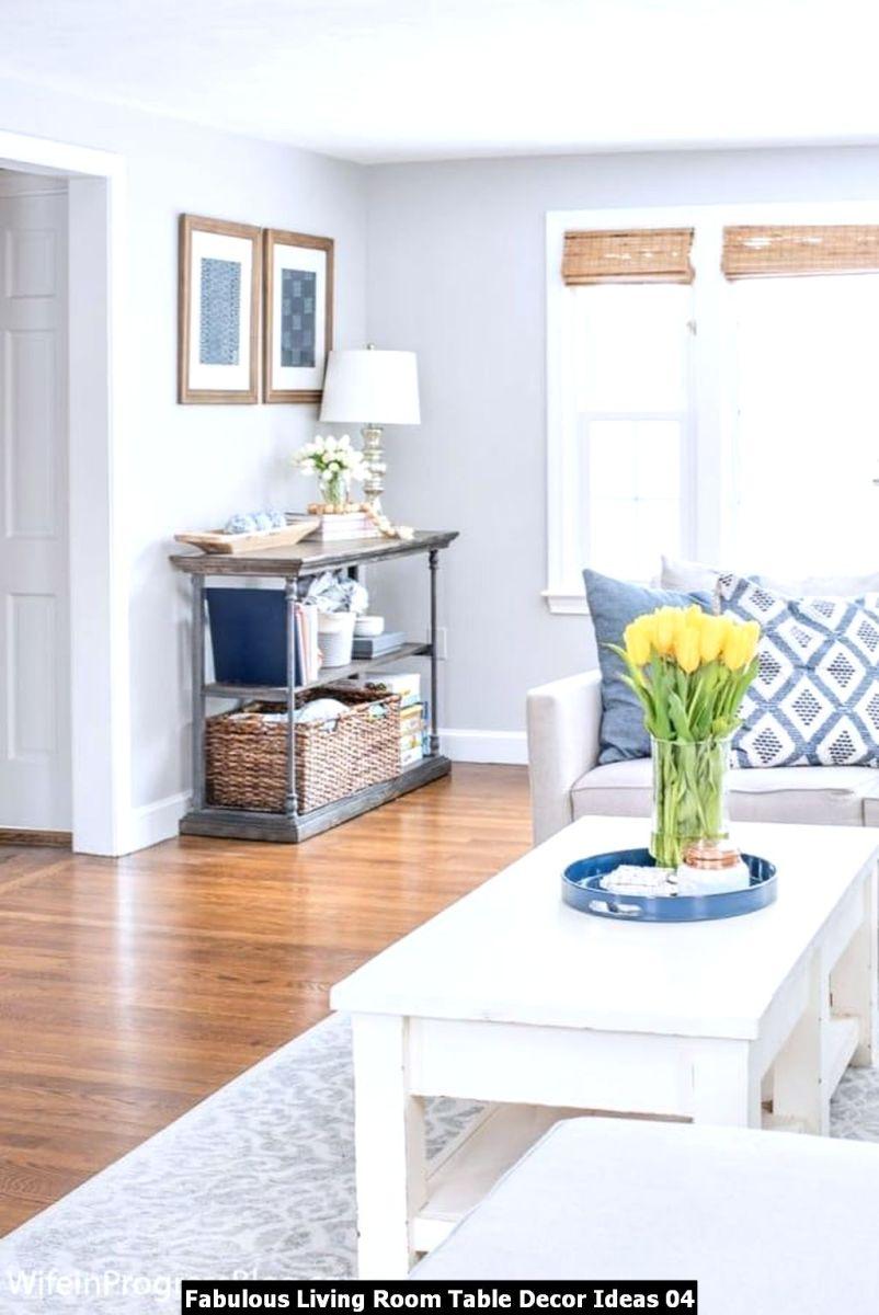 Fabulous Living Room Table Decor Ideas 04
