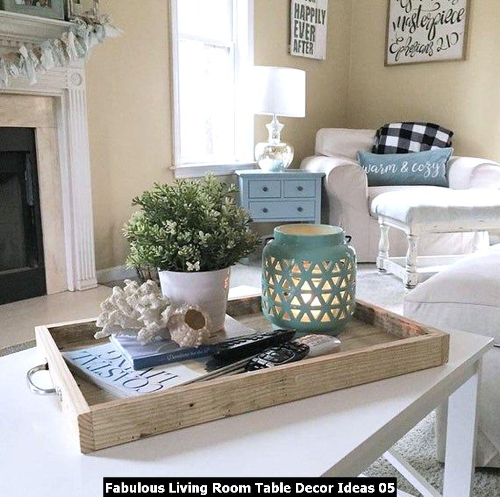 Fabulous Living Room Table Decor Ideas 05