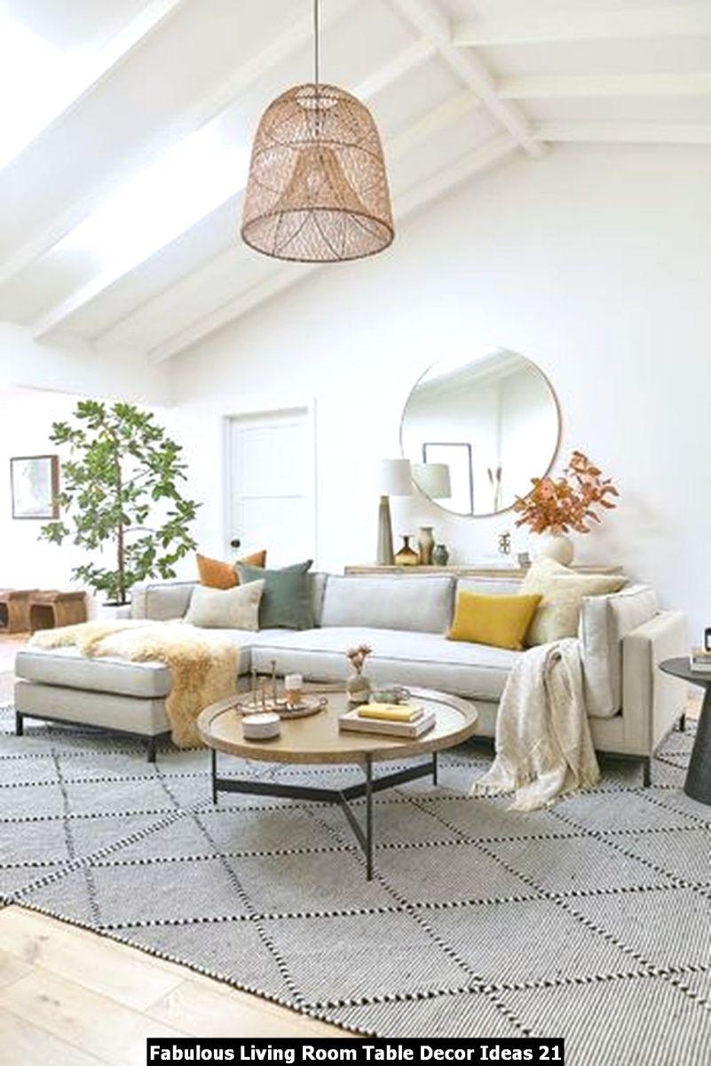 Fabulous Living Room Table Decor Ideas 21