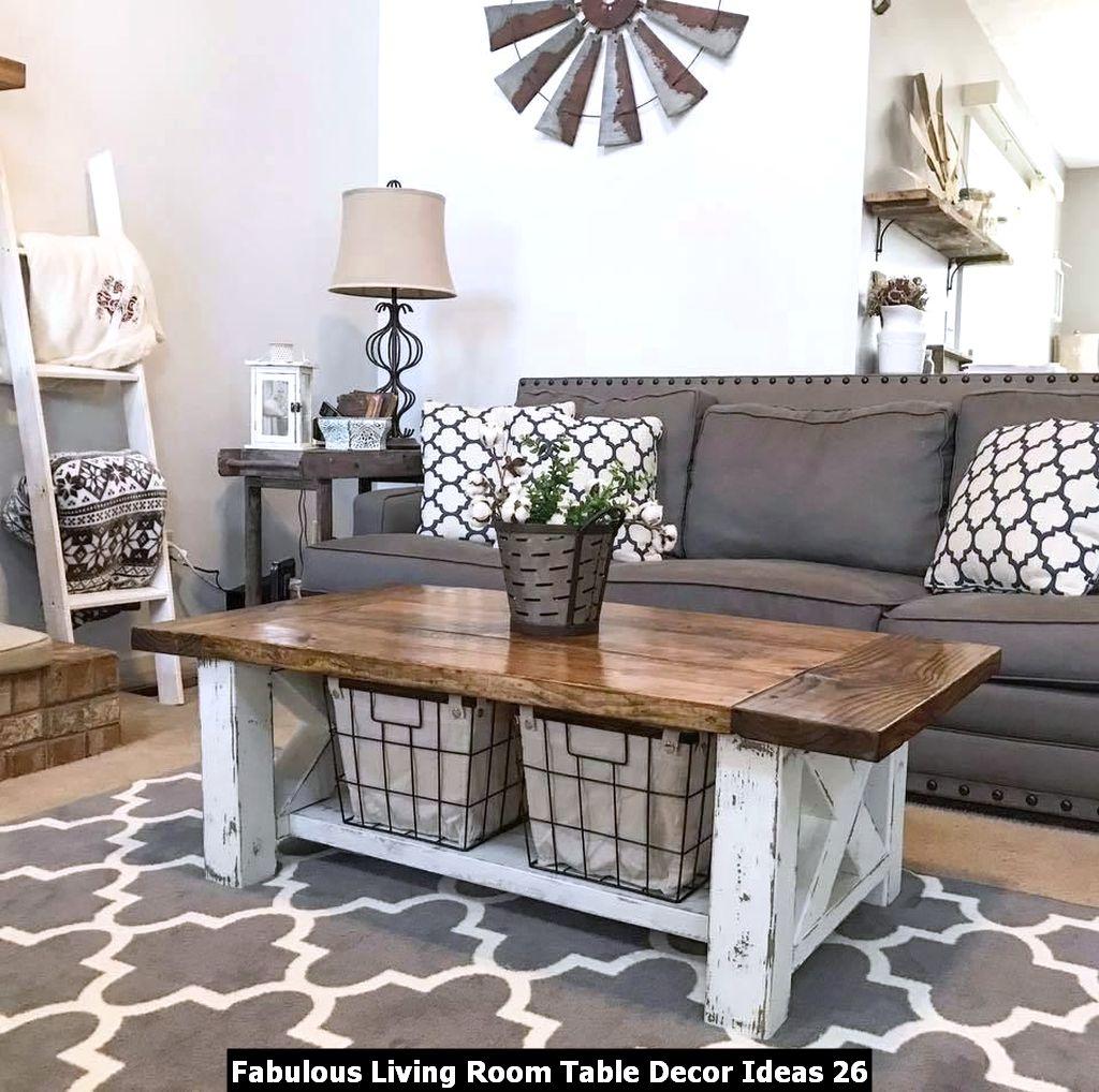 Fabulous Living Room Table Decor Ideas 26