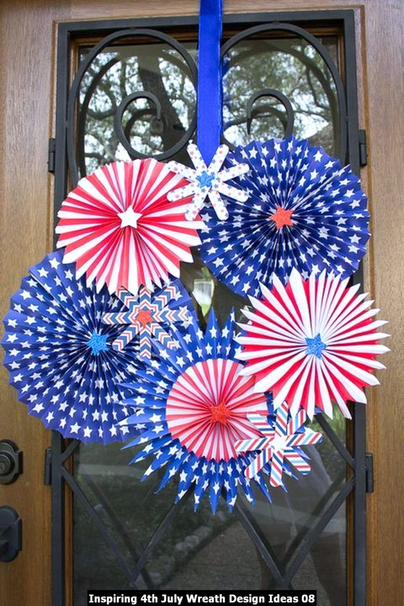 Inspiring 4th July Wreath Design Ideas 08