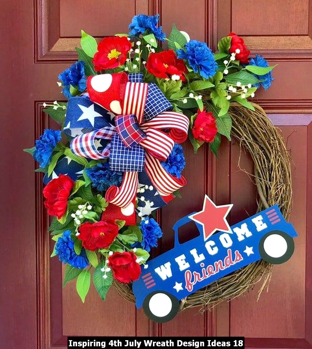 Inspiring 4th July Wreath Design Ideas 18
