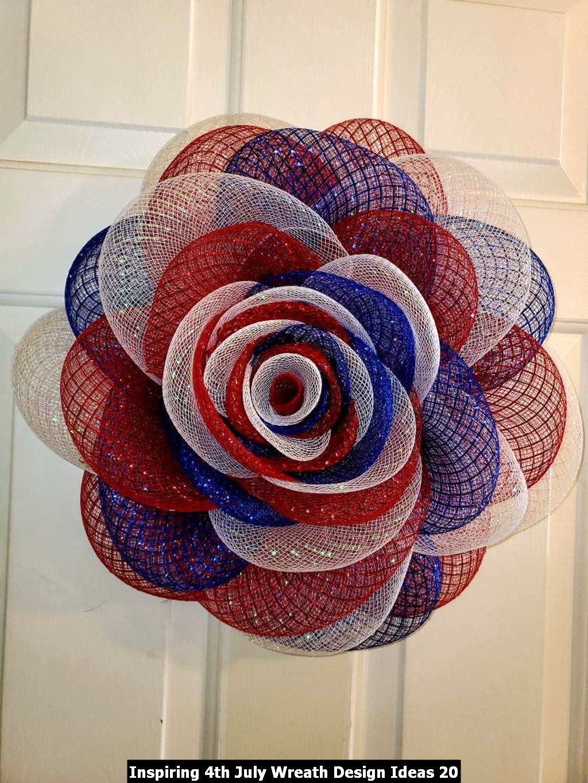 Inspiring 4th July Wreath Design Ideas 20