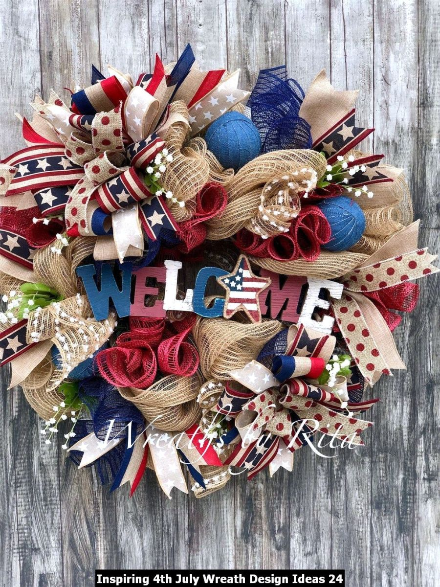 Inspiring 4th July Wreath Design Ideas 24