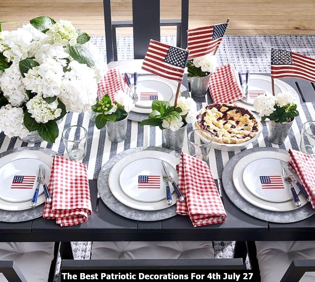 The Best Patriotic Decorations For 4th July 27