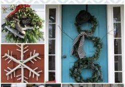 Winter Front Door Decor
