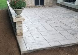 Backyard Stamped Concrete Patio