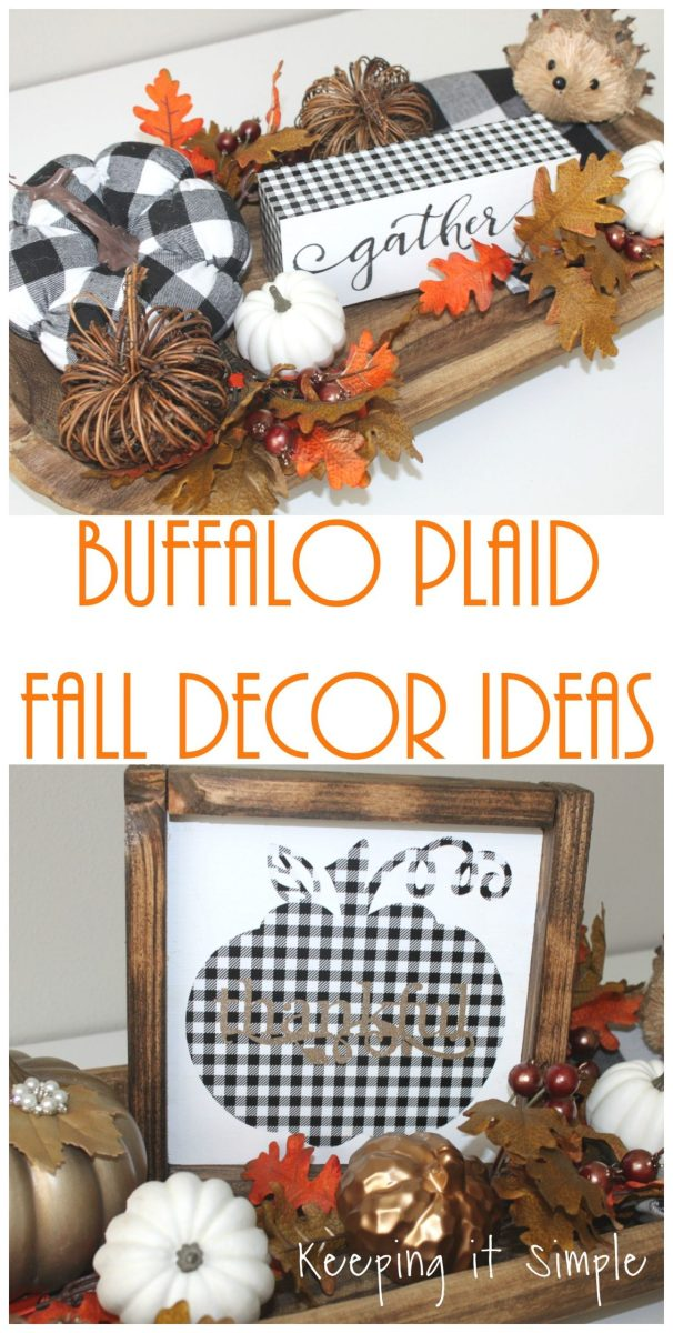Buffalo Check Fall Decor