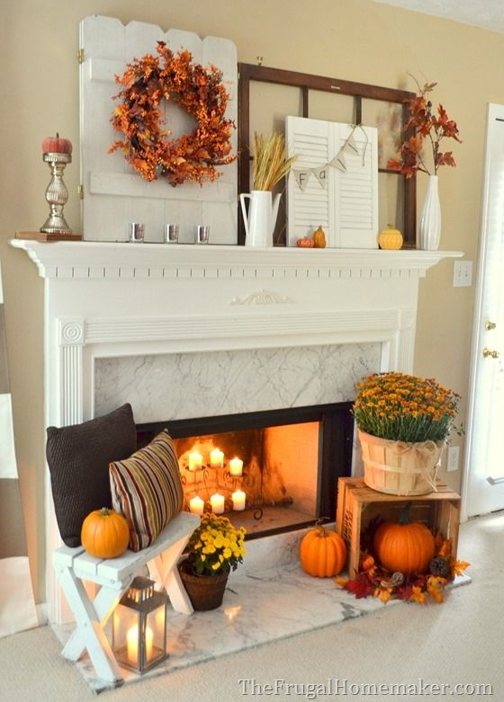 Fall Fireplace Decor Ideas