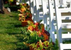 Outdoor Fall Wedding Decor