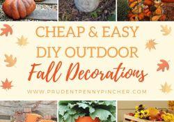 Cheap DIY Fall Decor