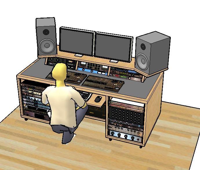 DIY Home Studio Desk