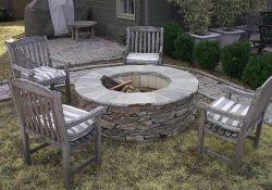 Backyard Wood Fire Pit