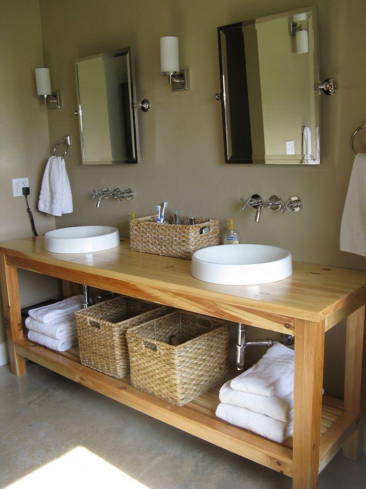 Open Bathroom Vanity