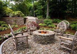 Rustic Backyard Fire Pit Ideas