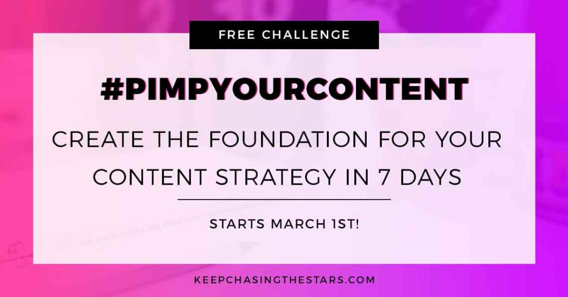 This FREE 7-day challenge will help creative entrepreneurs and bloggers create the foundation of their content strategy the right way.