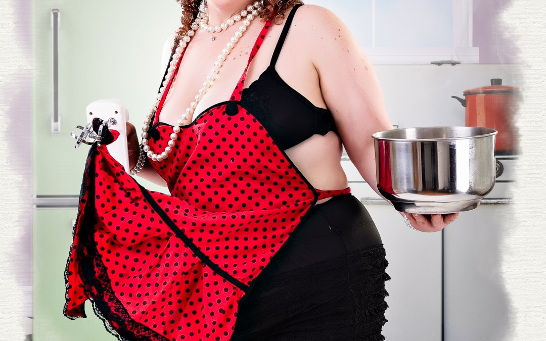 A baking themed pin-up session