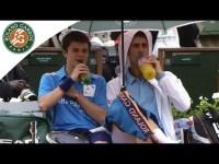 French open in the rain with Novak Djokovic – YouTube